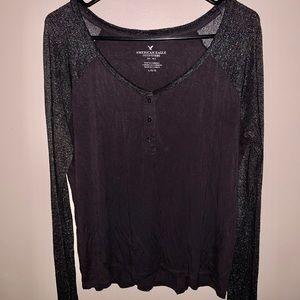 Long Sleeve American Eagle T-shirt (Size: L)